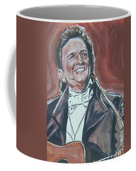 Johnny Cash Coffee Mug featuring the painting Johnny Cash by Bryan Bustard