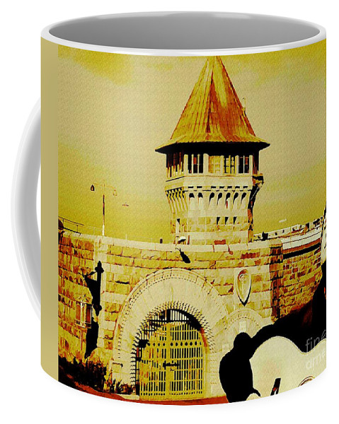 Johnny Cash Photographs Coffee Mug featuring the painting Johnny Sings The Blues by John Malone