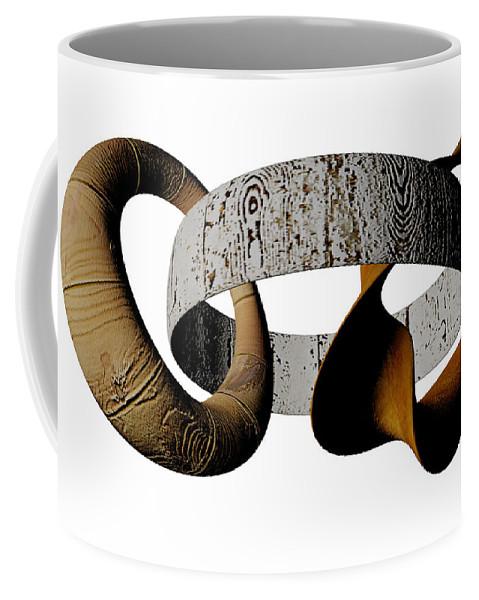 Circle Coffee Mug featuring the digital art Join Circles by R Muirhead Art