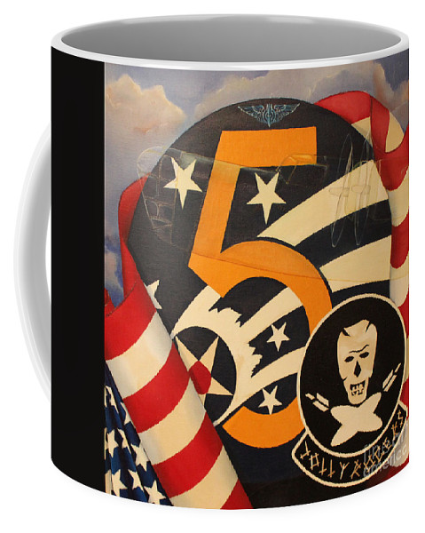 Military Painting Coffee Mug featuring the painting Jolly Rogers by D L Gerring