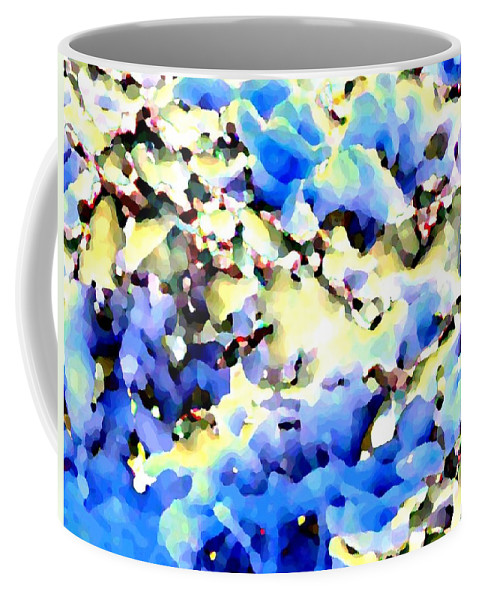 Abstract Coffee Mug featuring the digital art Jolly Winter Blues by Will Borden