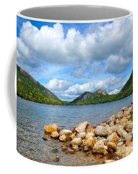 Nature Coffee Mug featuring the photograph Jordan Pond by Anna Serebryanik