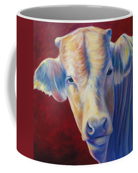 Bull Coffee Mug featuring the painting Jorge by Shannon Grissom