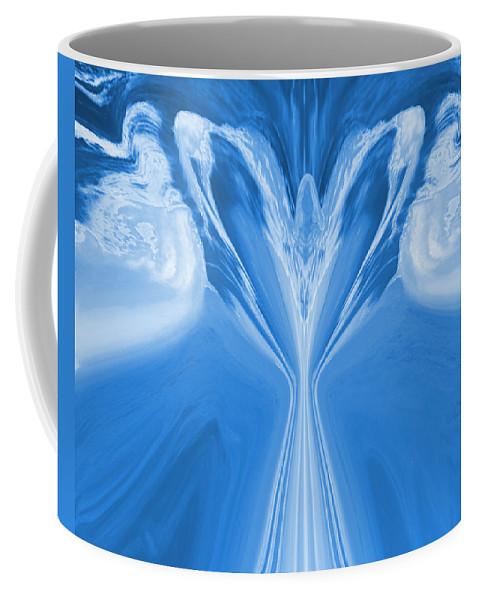 Angel Coffee Mug featuring the digital art Josea - Blue by Artistic Mystic