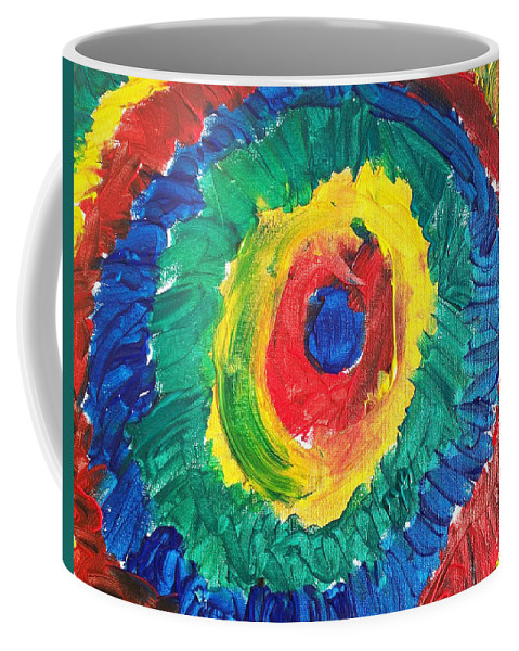 Acrylic Coffee Mug featuring the painting Joss's Eye by Corby Bender
