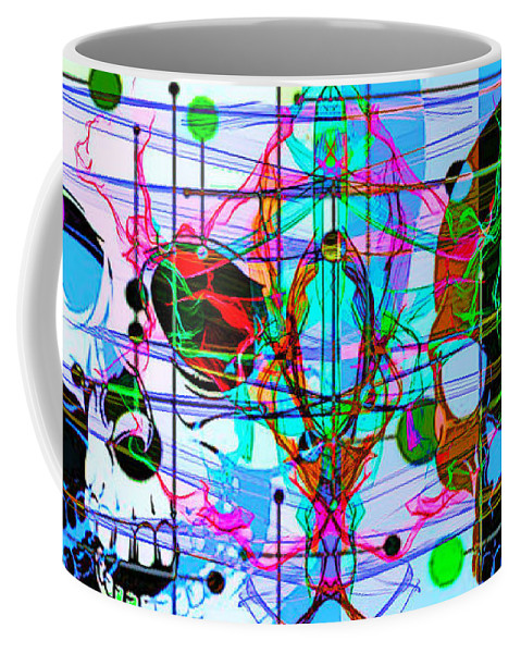 Journey Into Halloween Coffee Mug featuring the digital art journey into Halloween by Tony Adamo