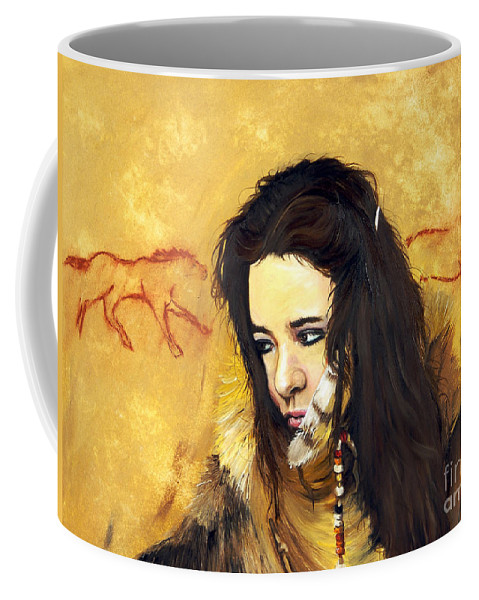 Southwest Art Coffee Mug featuring the painting Journey by J W Baker