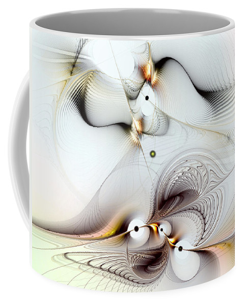 Abstract Coffee Mug featuring the digital art Journey To Ecstasy by Casey Kotas