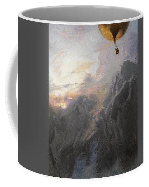 Emile Friant Coffee Mug featuring the painting Journey To Infinity by Emile Friant
