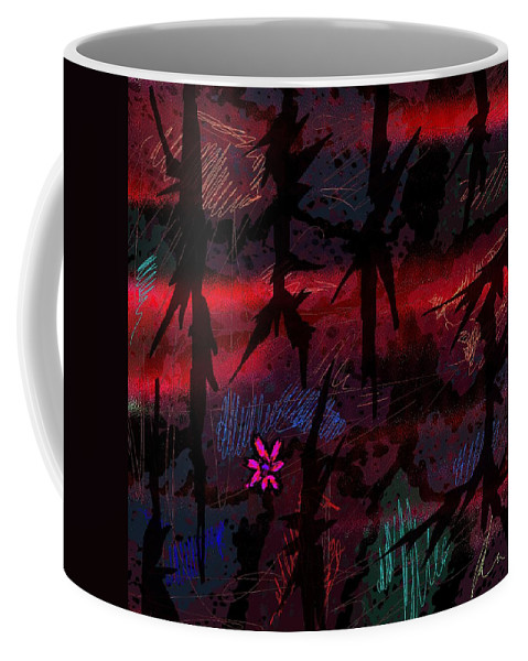 Abstract Coffee Mug featuring the digital art Joy In Tears by Rachel Christine Nowicki