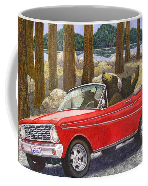 Bears Coffee Mug featuring the painting Joy Ride by Catherine G McElroy