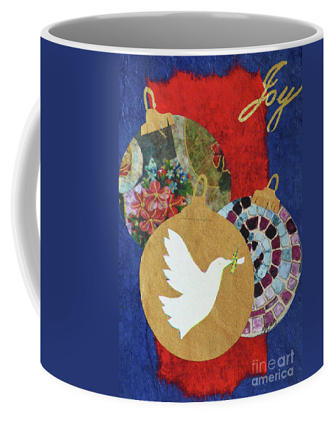 Greeting Coffee Mug featuring the mixed media Joy by Sharon Eng
