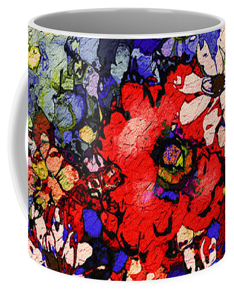 Floral Abstract Coffee Mug featuring the painting Joyful Flowers by Natalie Holland