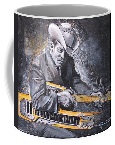 Jr. Brown Coffee Mug featuring the painting Jr. Brown by Eric Dee
