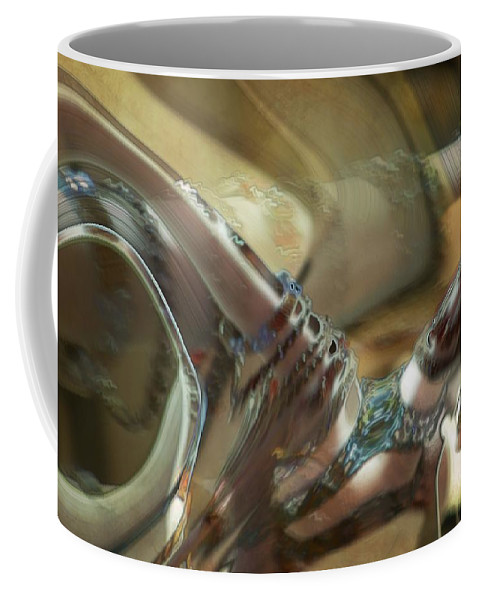 Abstract Coffee Mug featuring the painting Judgment by RC DeWinter