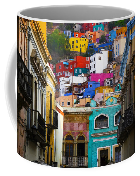 Architecture Coffee Mug featuring the photograph Juegos in Guanajuato by Skip Hunt