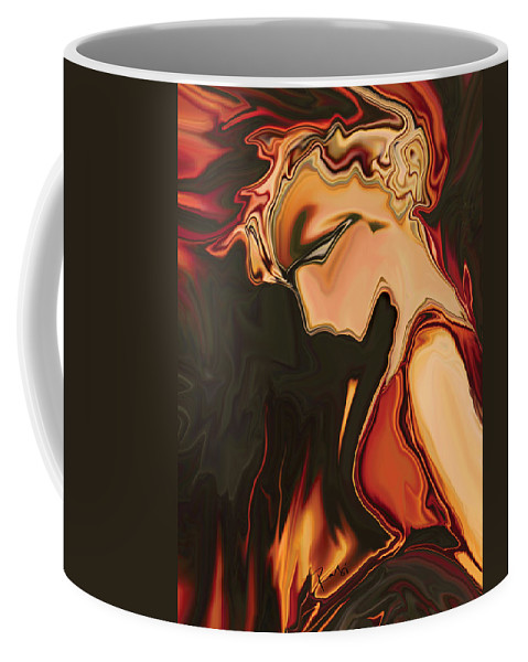 Art Coffee Mug featuring the digital art Juliet by Rabi Khan