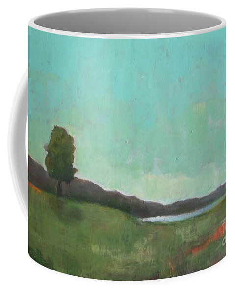 Landscape Coffee Mug featuring the painting July 1988 by Vesna Antic