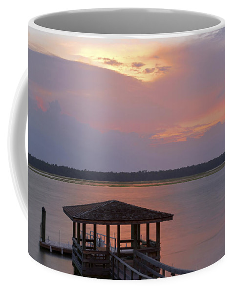 Sunset Coffee Mug featuring the photograph July Evening by Phill Doherty