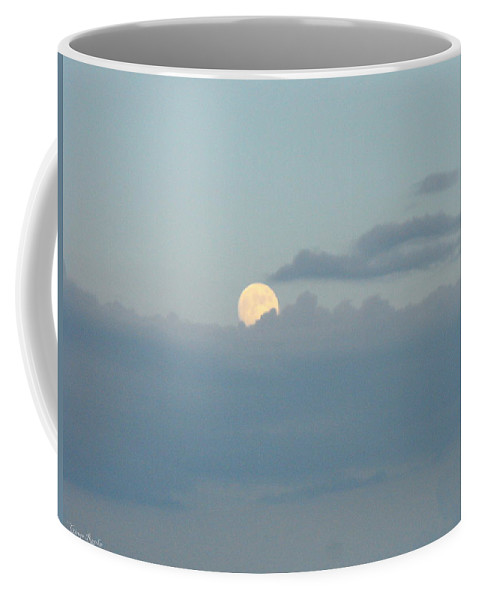 Faces Of The Moon Coffee Mug featuring the photograph July Moon Rise by Ginger Repke