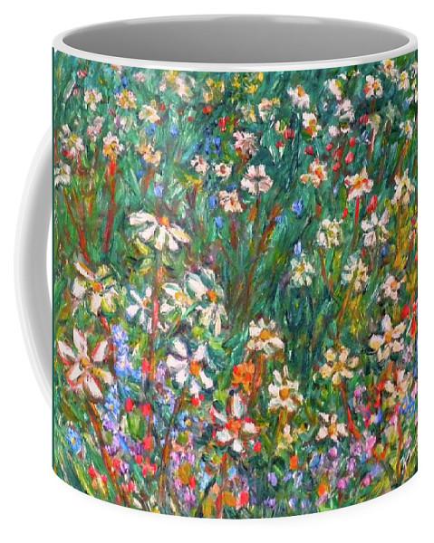 Kendall Kessler Coffee Mug featuring the painting Jumbled Up Wildflowers by Kendall Kessler