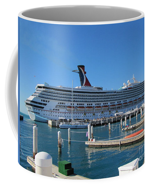 Ship Coffee Mug featuring the photograph Jump Aboard by Michelle Powell
