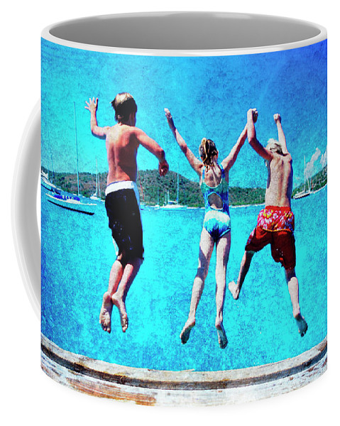 Coffee Mug featuring the photograph Jump In by Guy Crittenden