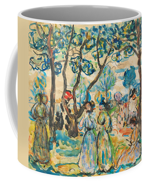 Maurice Brazil Prendergast Coffee Mug featuring the painting June Day by Maurice Brazil Prendergast