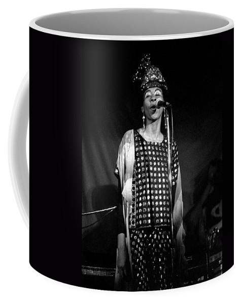 June Tyson Coffee Mug featuring the photograph June Tyson by Lee Santa