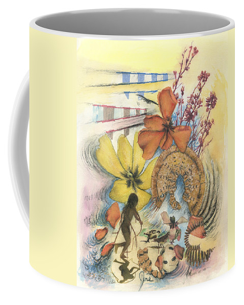 Abstract Coffee Mug featuring the digital art June by Valerie Meotti