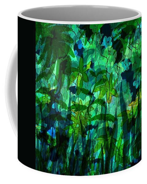 Abstract Coffee Mug featuring the digital art Jungle Colors by Rachel Christine Nowicki