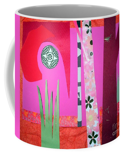 Landscape Coffee Mug featuring the mixed media Jungle Temple by Debra Bretton Robinson