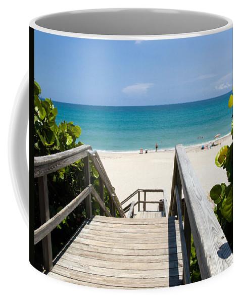 Juno; Florida; Loxahatchee; River; Jupiter; Inlet; Swim; Swimming; Children; Girl; Boy; Woman; Man; Coffee Mug featuring the photograph Juno Beach Florida by Allan Hughes