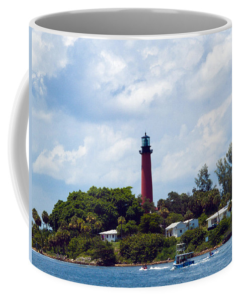 Florida; Juptier; Inlet; Loxahatchee; River; Atlantic; Coast; Shore; Beach; Light; Lighthouse; Beaco Coffee Mug featuring the photograph Jupiter Inlet Florida by Allan Hughes
