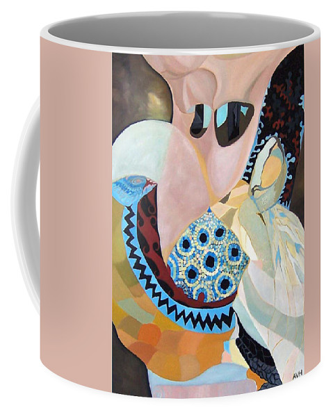 Figyrative Coffee Mug featuring the painting Jurney by Antoaneta Melnikova- Hillman