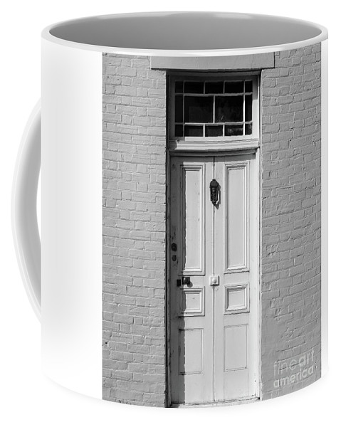 Door Coffee Mug featuring the pyrography Just A Door by Evan Sorrell