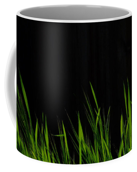 Grass Coffee Mug featuring the photograph Just A Little Grass by Donna Blackhall