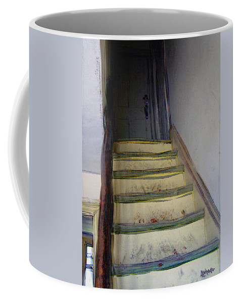 Antiquated Coffee Mug featuring the digital art Just A Little Rickety by RC DeWinter