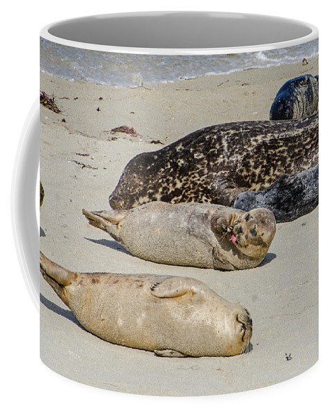 Just Another Day At The Beach Coffee Mug featuring the photograph Just Another Day At The Beach by Susan McMenamin