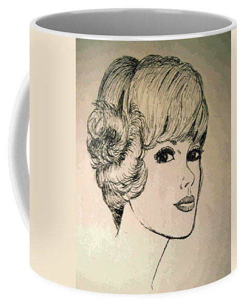 2d Coffee Mug featuring the drawing Just Another Pretty Face by Brian Wallace