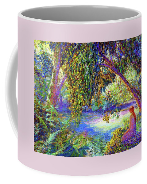 Meditation Coffee Mug featuring the painting Just Be by Jane Small