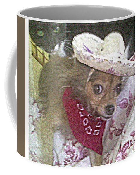 Pet Coffee Mug featuring the photograph Just Because She Is A Chihuahua by Carol Wisniewski