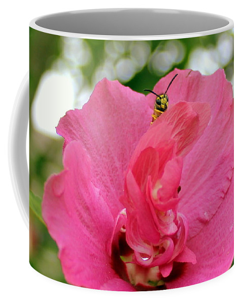 Flowers Coffee Mug featuring the photograph Just Checkin' by Deborah Crew-Johnson