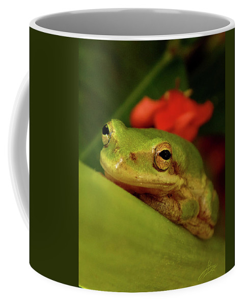 Frog Coffee Mug featuring the photograph Just Chill by April Zaidi