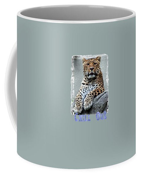 Leopard Coffee Mug featuring the photograph Just Chillin' by DJ Florek