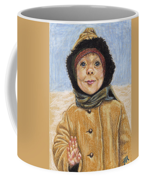 Boy Coffee Mug featuring the drawing Just Chillin by Jean Haynes