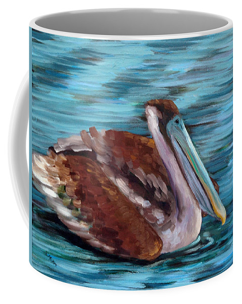 Acrylic Coffee Mug featuring the painting Just Cruisin by Suzanne McKee