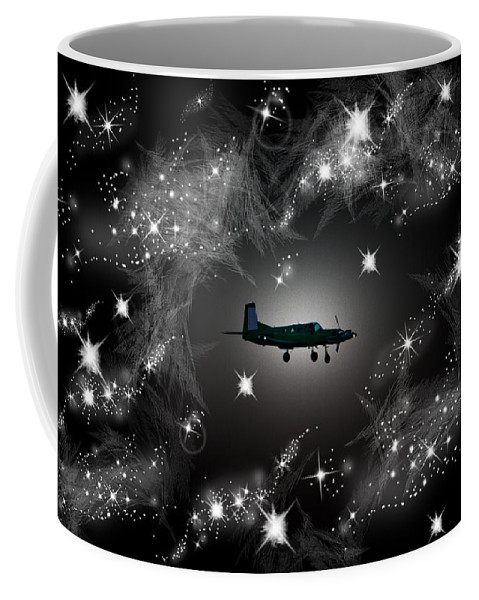 Army Coffee Mug featuring the photograph Just For Fun Through The Stars by Miroslava Jurcik