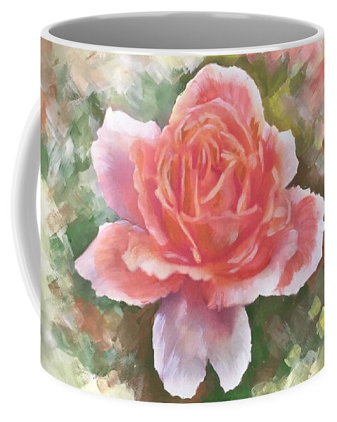 Just Joey Rose Coffee Mug featuring the painting Just Joey Rose From The Acrylic Painting by Ryn Shell