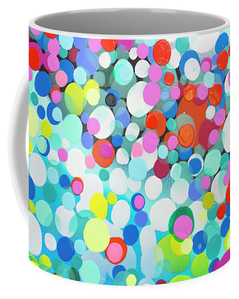 Abstract Coffee Mug featuring the painting Just Let It by Claire Desjardins